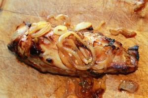 Filet mignon de porc caramélisé au miel