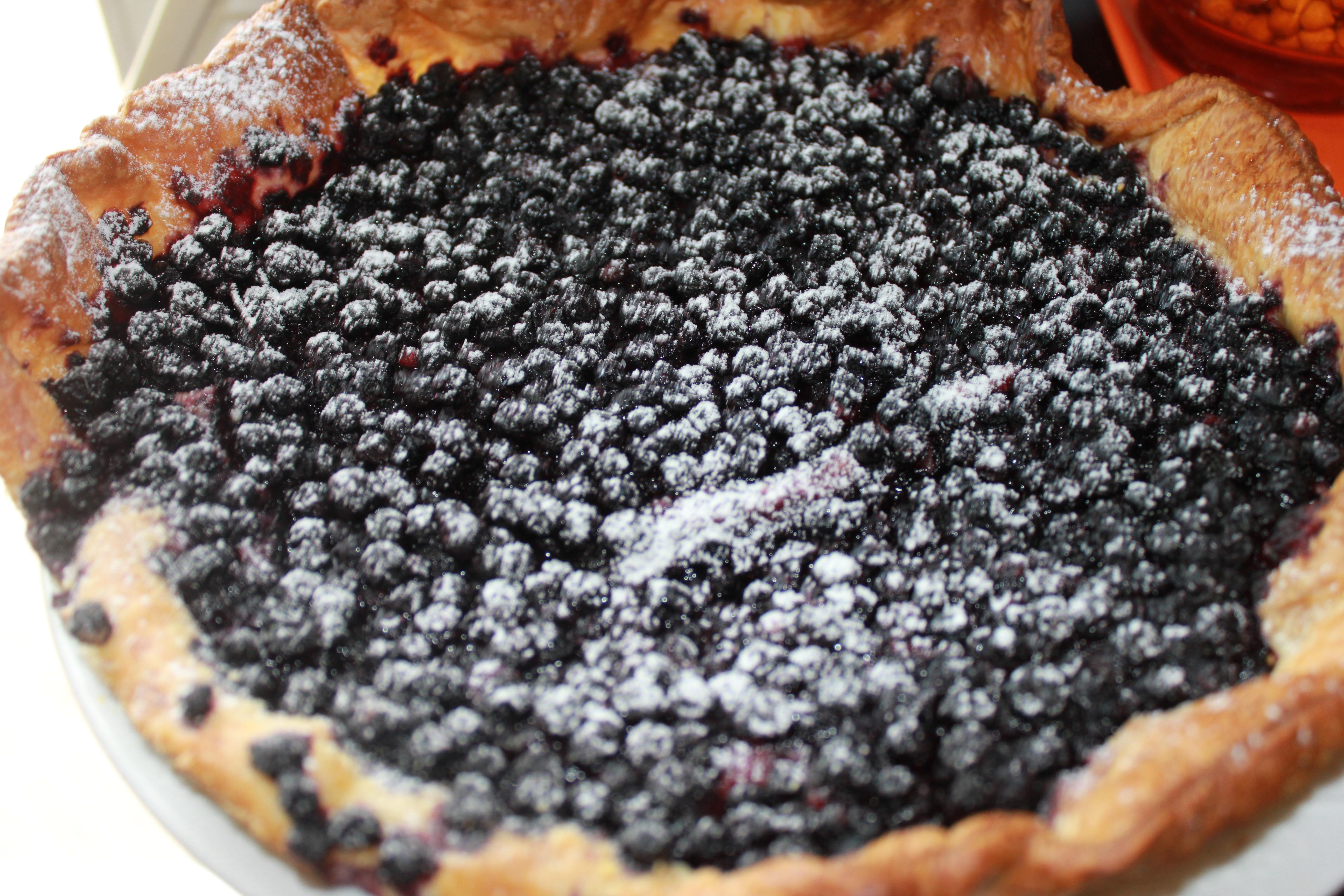 la tarte aux myrtilles o fourneaux