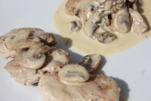 Filet mignon de porc à la crème et aux champignons