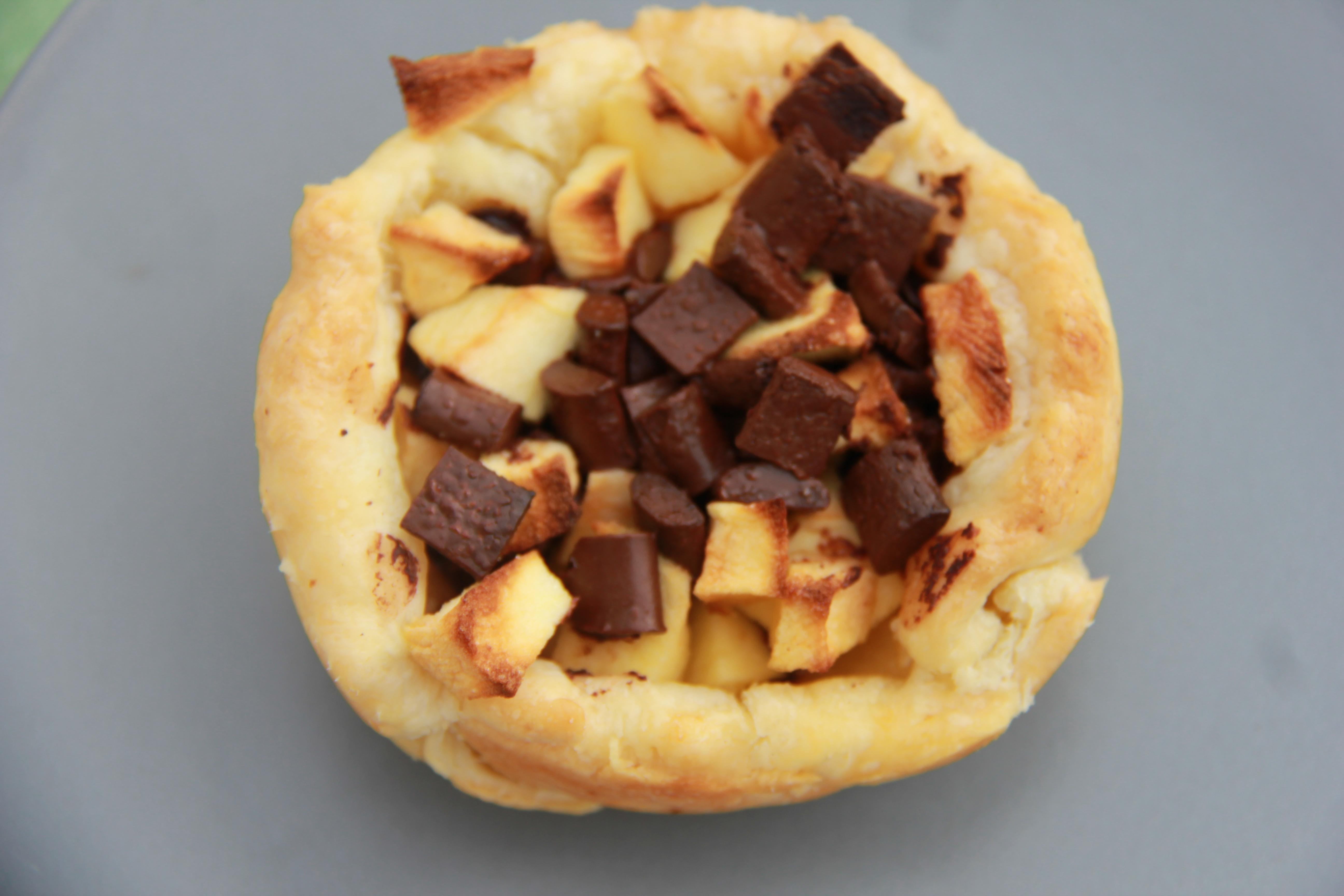 Petit panier feuillet pommes chocolat ou que faire avec un reste de p te feuillet e anne - Que faire avec une pate feuilletee sale ...