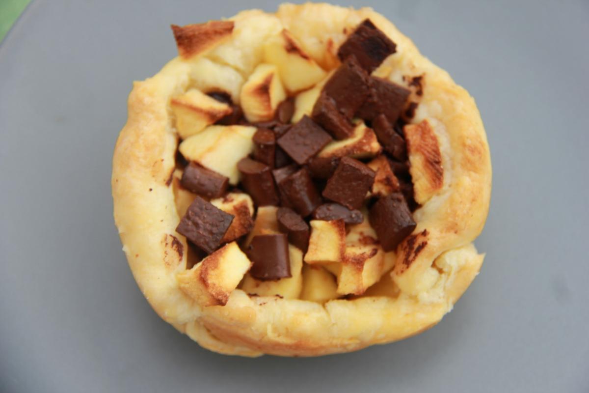 Petit panier feuilleté pommes & chocolat OU que faire avec un reste de pâte feuilletée ?