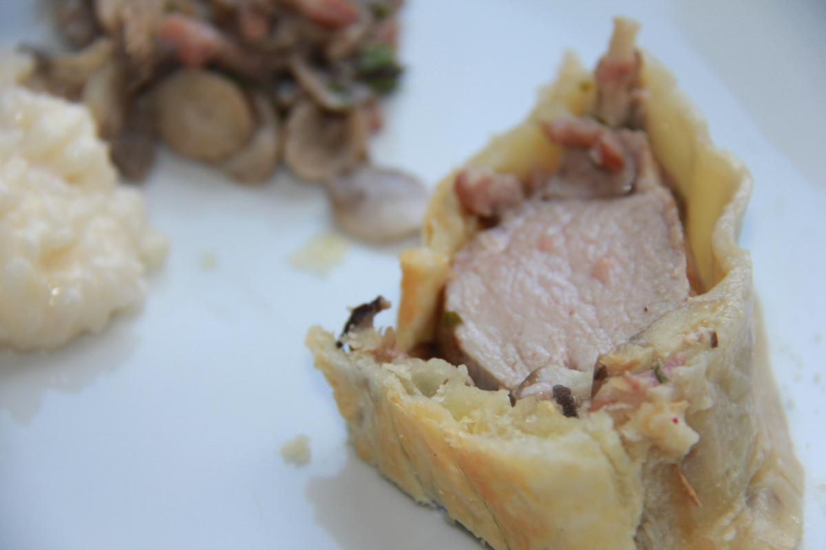 Filet mignon de porc en croûte & champignons